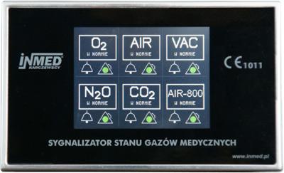 sygnalizatory stanu gazów medycznych