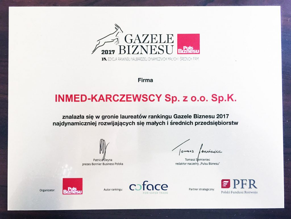 gazela certyfikat